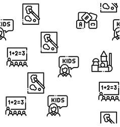 Preschool education seamless pattern vector