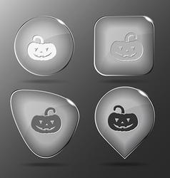 Pumpkin Glass buttons vector
