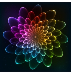 Rainbow colors cosmic flower vector