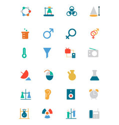 Science colored icons 3 vector