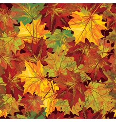 Seamless background autumnal leaves vector