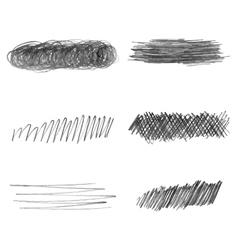 Set of hand drawn pencil strokes doodle vector image