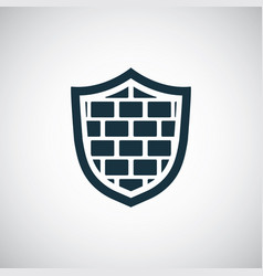 shield wall icon for web and ui on white vector image