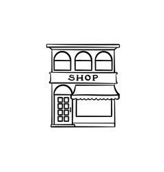 shopping store hand drawn outline doodle icon vector image