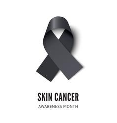 Skin cancer awareness ribbon vector