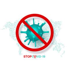 Stop coronavirus sign virus strain mers-cov vector
