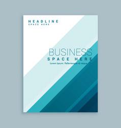 Stylish business brochure template vector