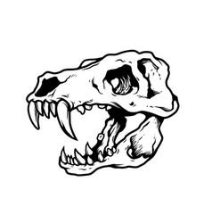 T rex skull vector