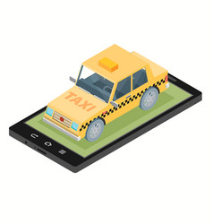 Taxi service design over white background vector