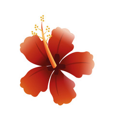 Textured tropical flower icon image vector