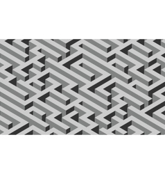 The maze grey labyrinth - endless vector image