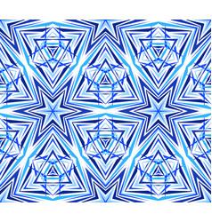 thin kaleidoscope star pattern blue vector image