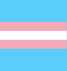 Transgender pride flag vector