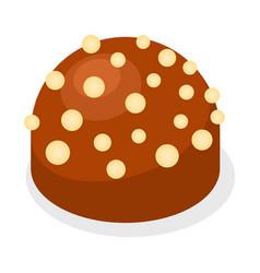 truffle icon isometric style vector image