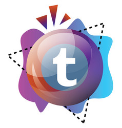 tumblt bubble and colorful graphics icon on a vector image