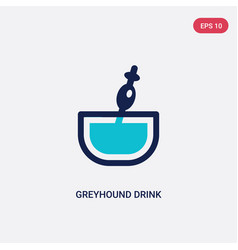two color greyhound drink icon from drinks vector image
