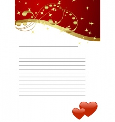 valentines template vector image