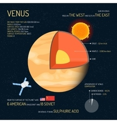 Venus detailed structure with layers vector image