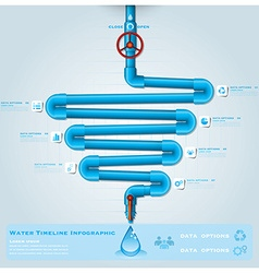 Water Pipe Timeline Business Infographic vector