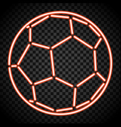 a soccer ball made of illuminated shapes sport vector image vector image