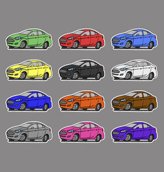 cartoon cars sticker for boys vector image