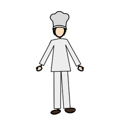 chef cartoon icon image vector image