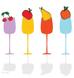 glasses and fruit color vector image vector image