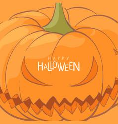 halloween pumpkin postcard vector image vector image