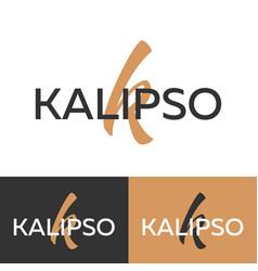 kalipso logo letter k logo logo template vector image