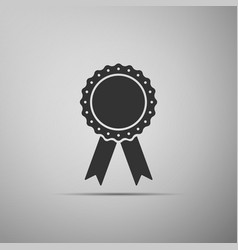 medal badge with ribbons icon vector image