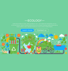 modern flat infographic ecology concept green vector image