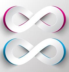 Paper Cut Infinity Symbols vector image