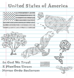 principal symbols of USA vector image