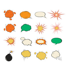 vintage comic speech bubbles design vector image
