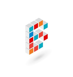 3d cube letter b logo icon design template vector