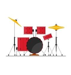 Cartoon Color Drum Kit or Set vector image
