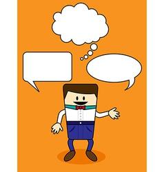 Cartoon with speech bubble vector image