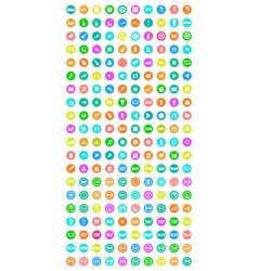 collection of flat icons for web and mobile vector image