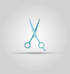 scissors isolated colored icon vector image