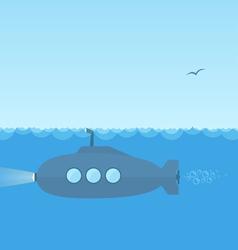 Submarine vector image