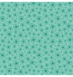Blue seamless floral pattern vector image vector image