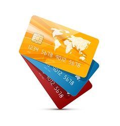 Colorful Credit Cards Set Isolated on White vector image