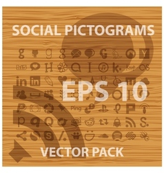 social and people pictograms symbols set vector image
