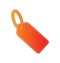 Tag sign Orange applique isolated vector image vector image