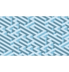 The maze blue labyrinth - endless vector image