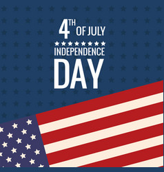 united states independence day flag vector image vector image