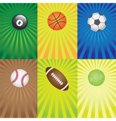 balls for sport games vector image