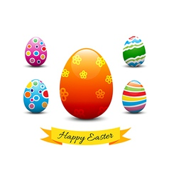 Collection of easter egg vector image vector image