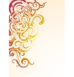 Colorful smoke vector image vector image