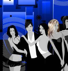 nightclub scene vector image vector image